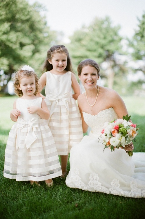 flower girls striped